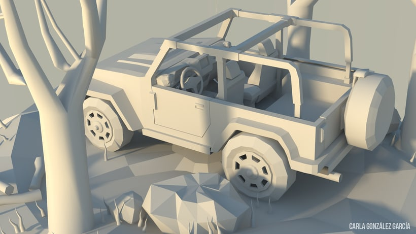 Jeep - Low poly 1