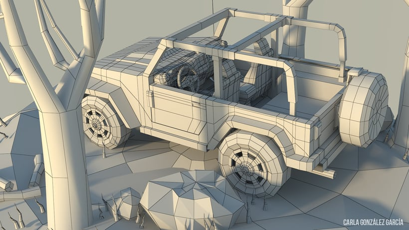 Jeep - Low poly 2