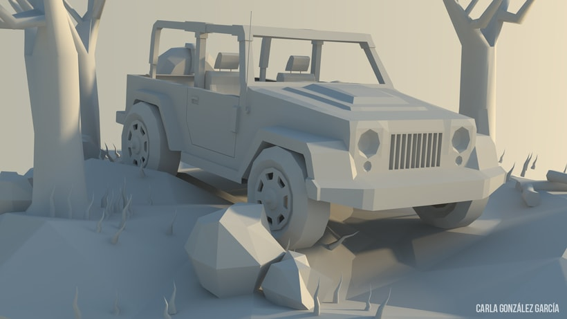 Jeep - Low poly 3