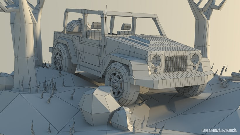 Jeep - Low poly 4