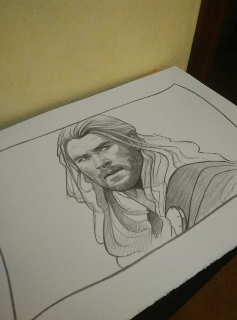 Thor Drawing / Dibujo de Thor 1