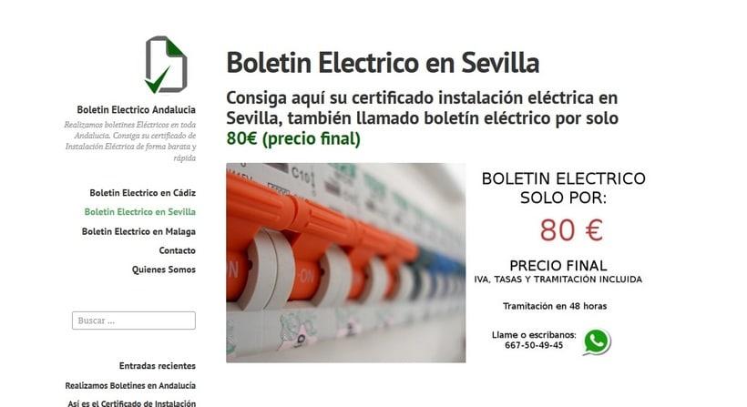 Web Andaluza de Certificados de Instalación Electrica 0