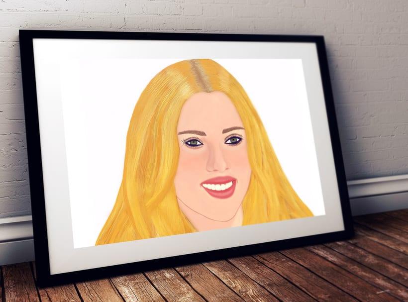 Scarlett Johansson pintura digital 0
