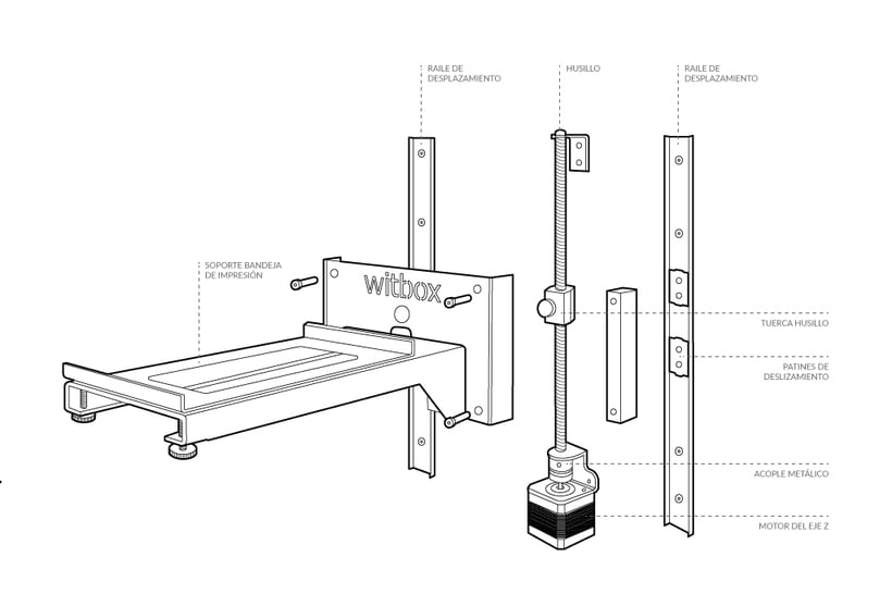 BQ Witbox. Technical Illustrations 2