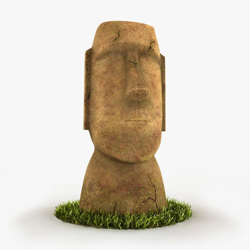 Moai 3D -1