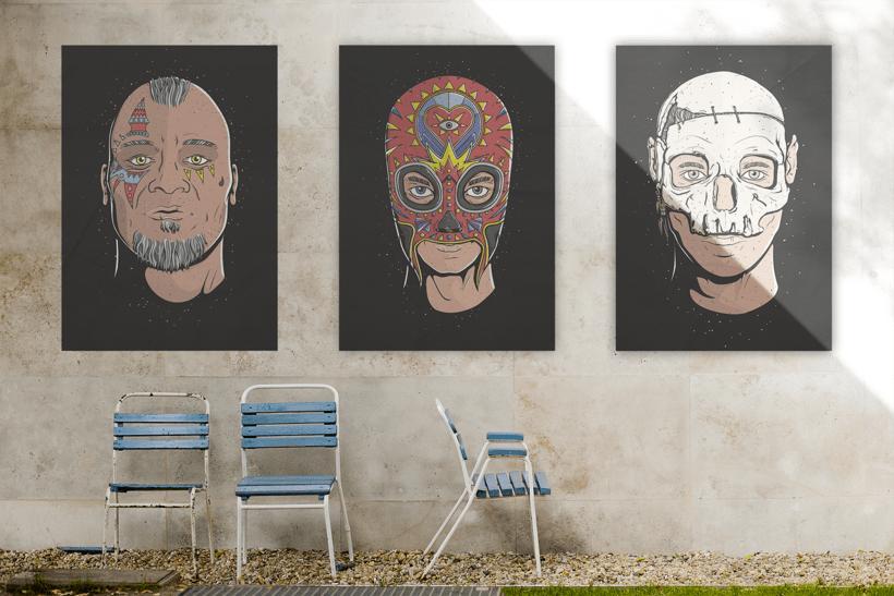 Facetas, proyecto de ilustración 3