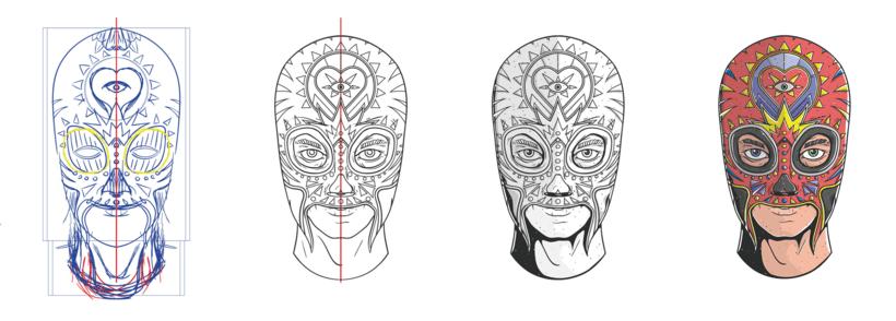 Facetas, proyecto de ilustración 4