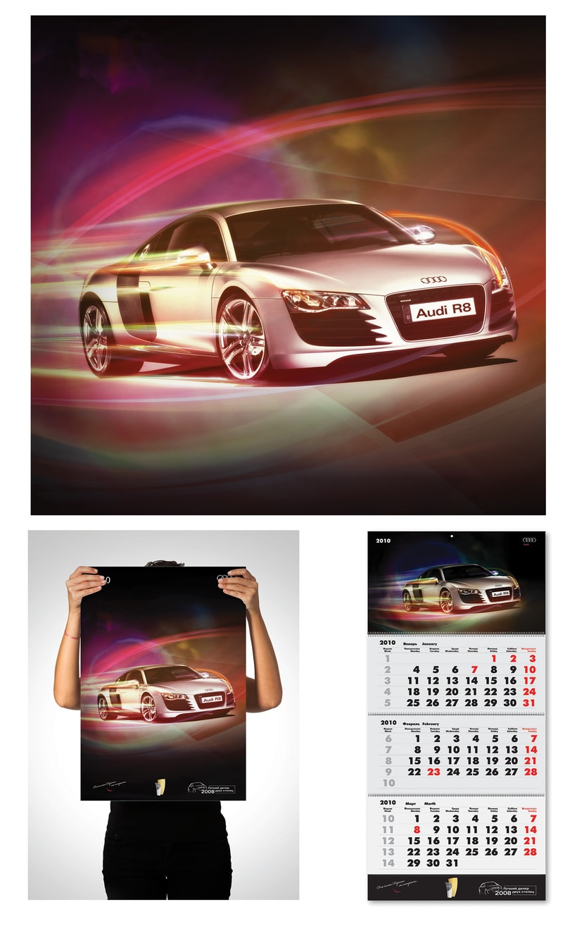 AUDI Wall calendar and poster -1