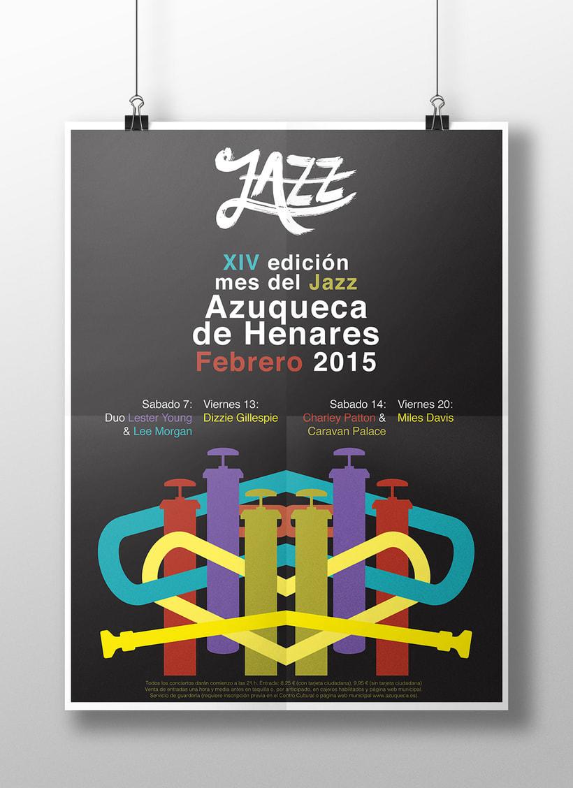 Cartel Jazz  Azuqueca 0