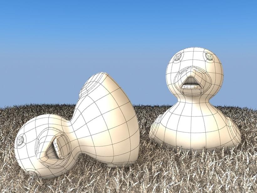 Pato de goma 3D 3