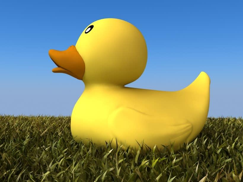 Pato de goma 3D 1