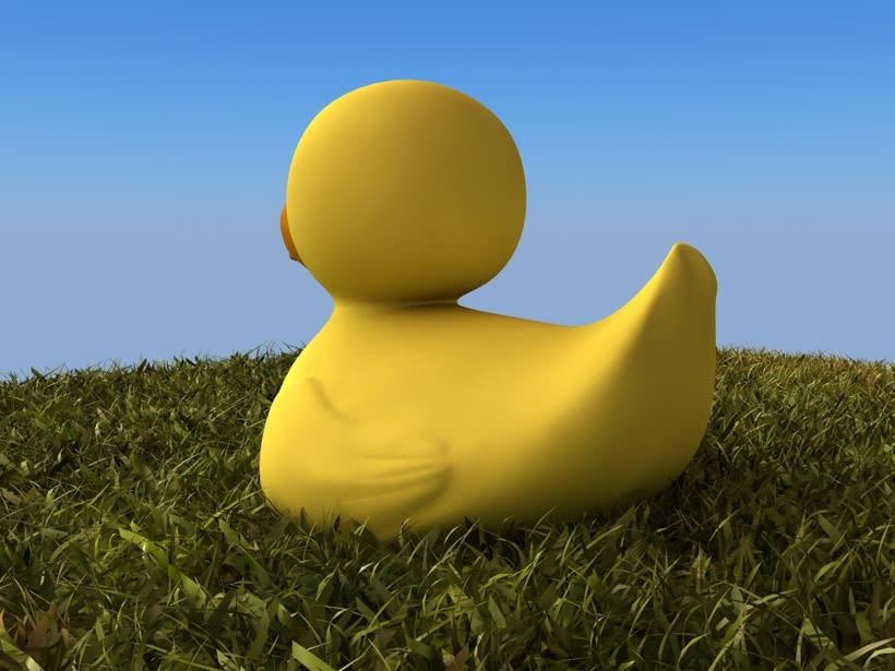 Pato de goma 3D 2