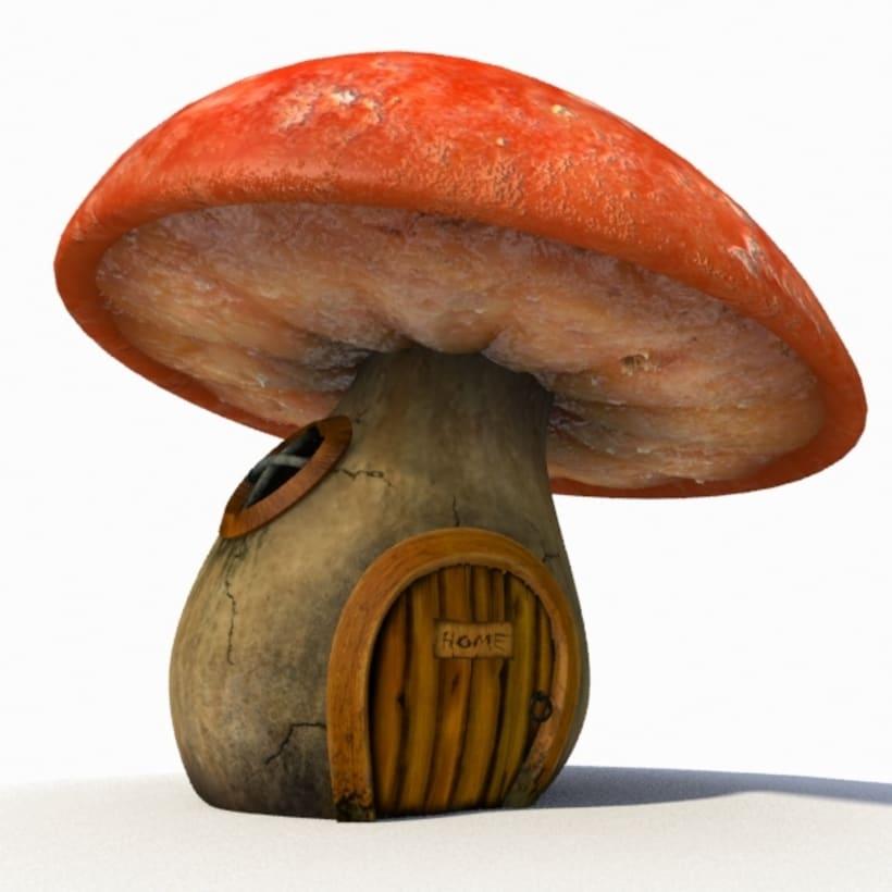 Casa hongo 3D (mushroom house) 0