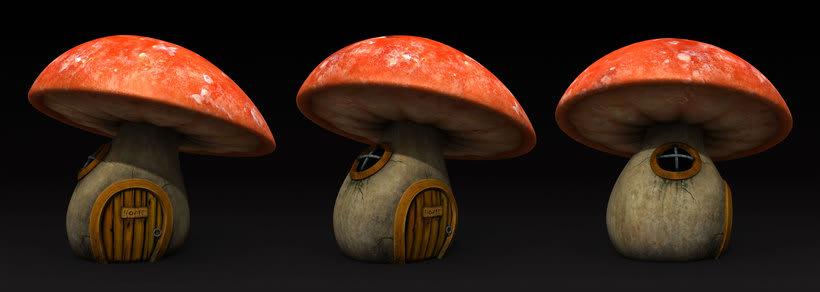 Casa hongo 3D (mushroom house) 2