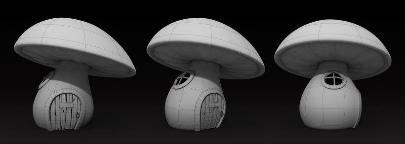Casa hongo 3D (mushroom house) 3