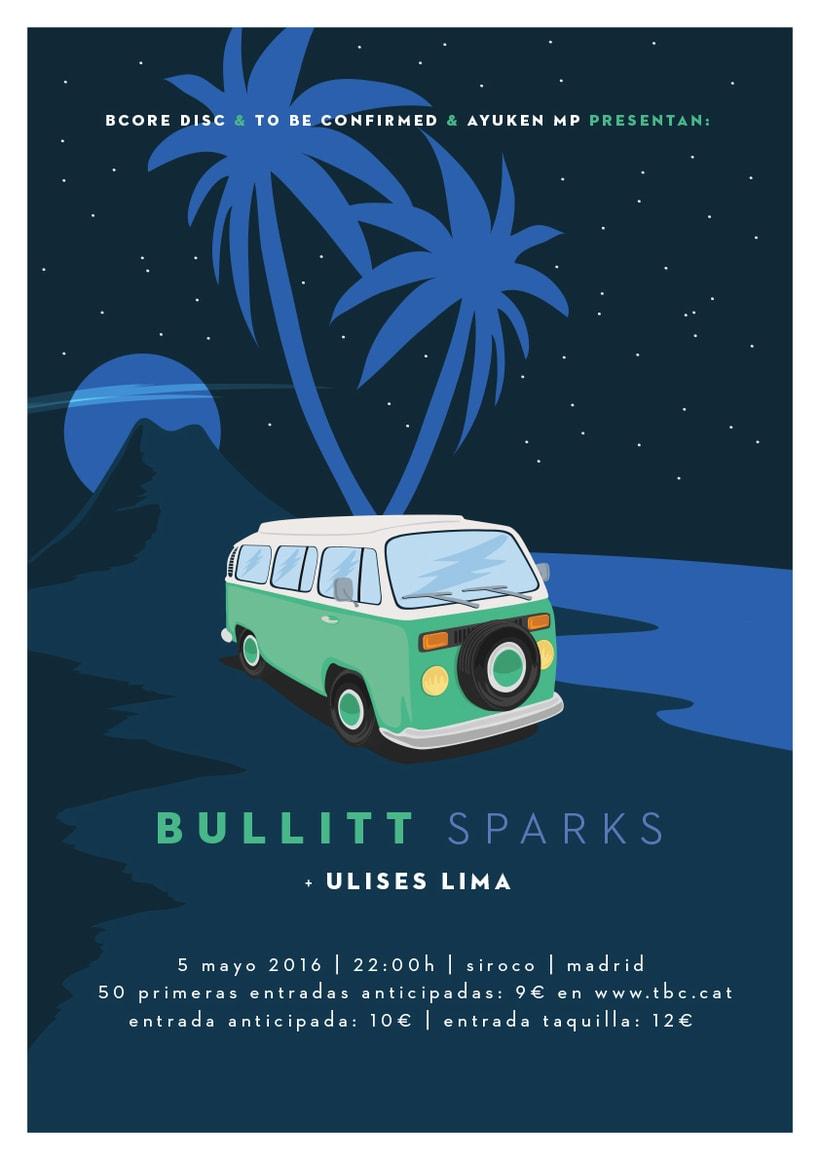 Cartel BULLITT + ULISES LIMA -1
