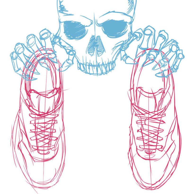Ilustración basada en las Nike Air Max 1 FB -1