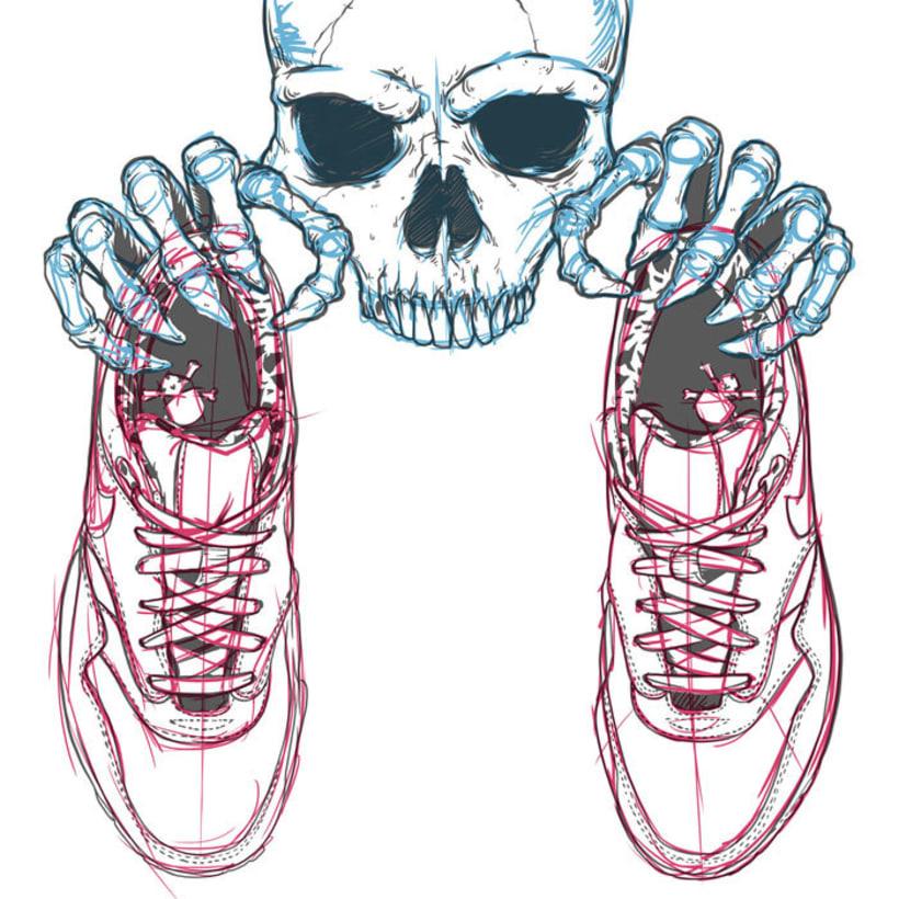 Ilustración basada en las Nike Air Max 1 FB 0