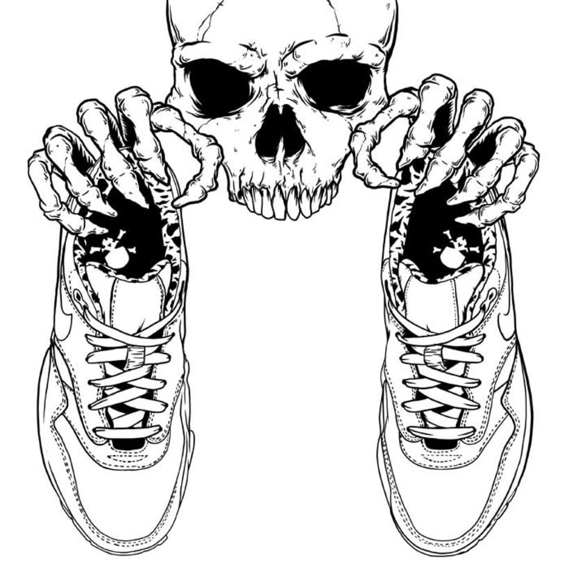 Ilustración basada en las Nike Air Max 1 FB 1