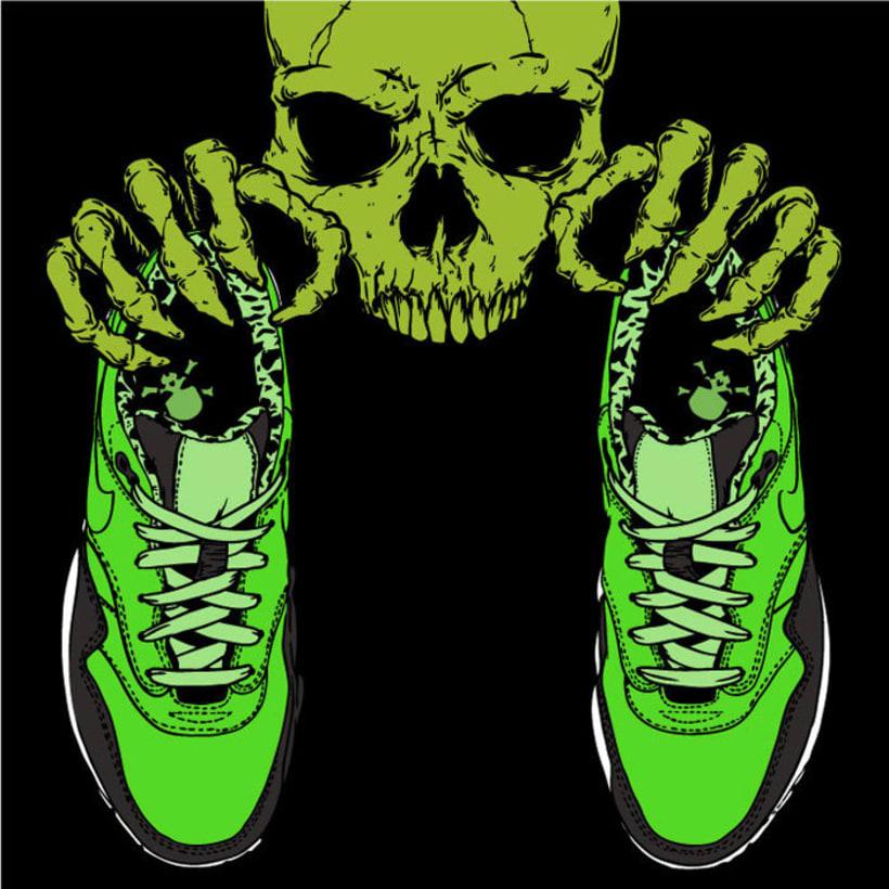 Ilustración basada en las Nike Air Max 1 FB 2