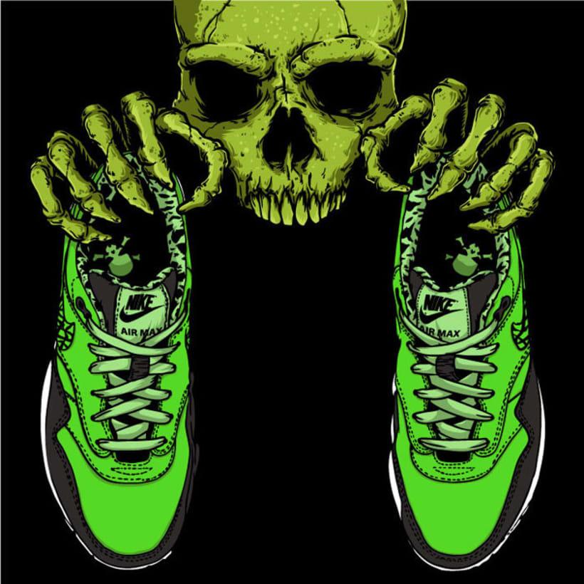 Ilustración basada en las Nike Air Max 1 FB 3