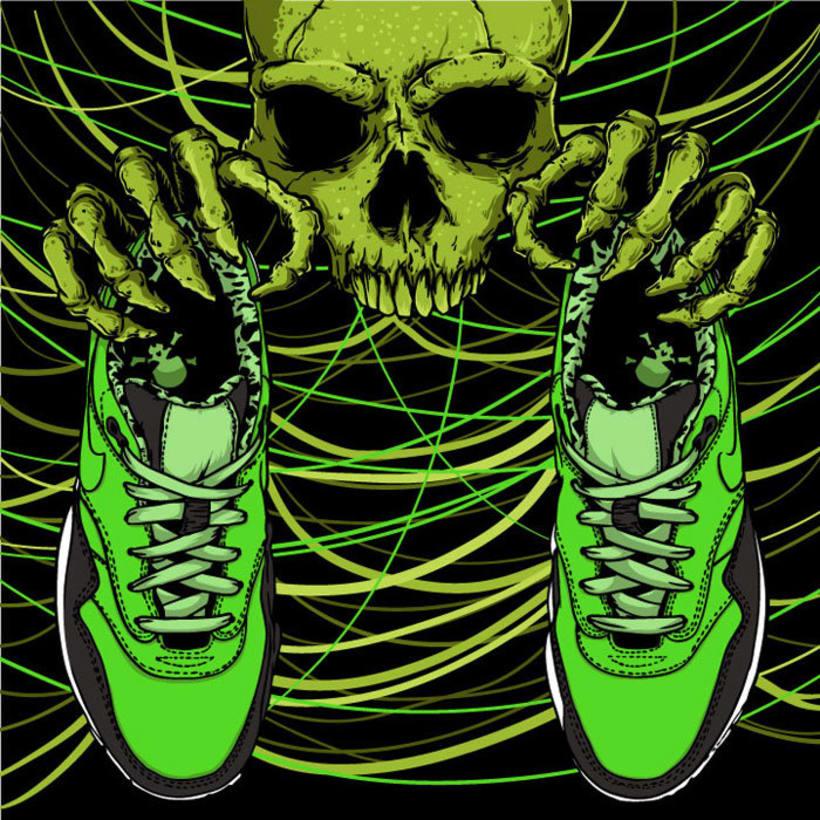 Ilustración basada en las Nike Air Max 1 FB 4