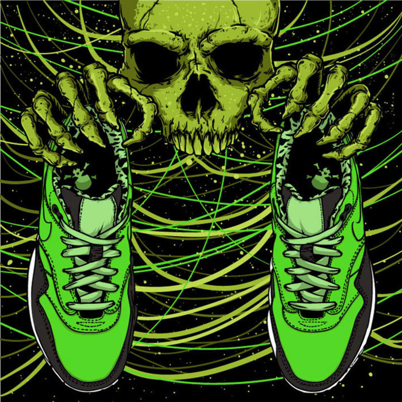 Ilustración basada en las Nike Air Max 1 FB 5
