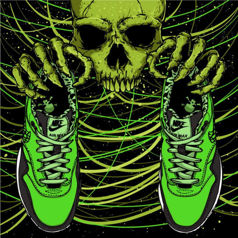 Ilustración basada en las Nike Air Max 1 FB 6