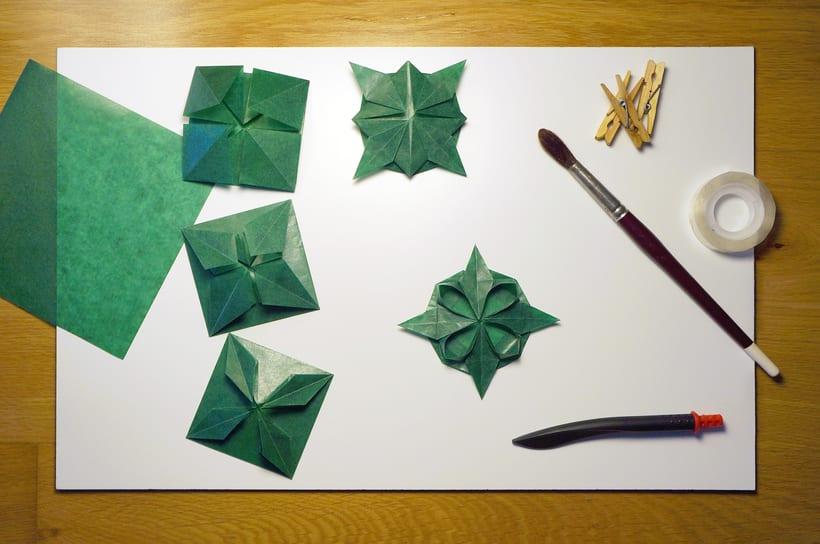 Kusudama verde - Fotografía de Producto -1