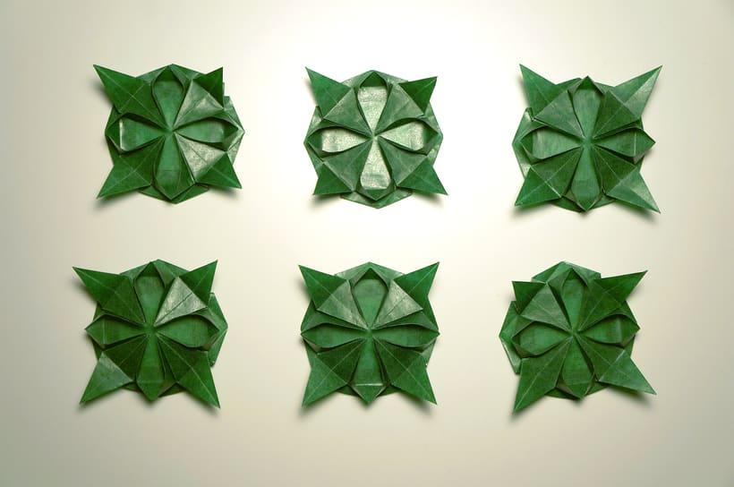 Kusudama verde - Fotografía de Producto 0