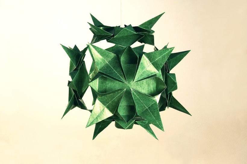 Kusudama verde - Fotografía de Producto 1