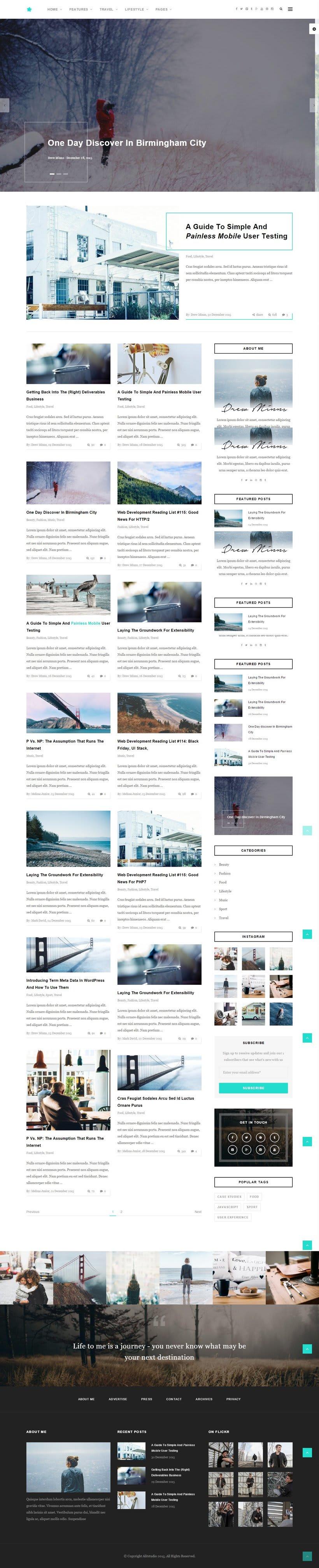 Plantilla WordPress para Blogs -1