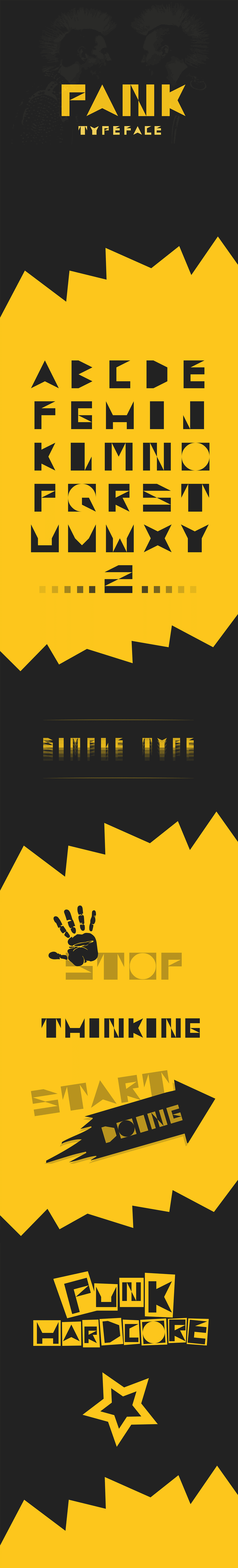 Typeface PANK 0