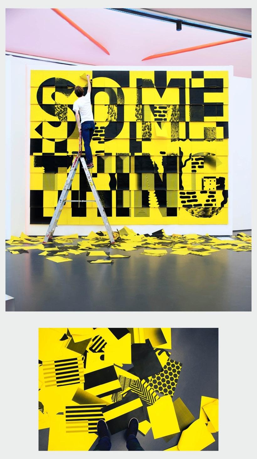 Haz algo único con esta instalación tipográfica  2