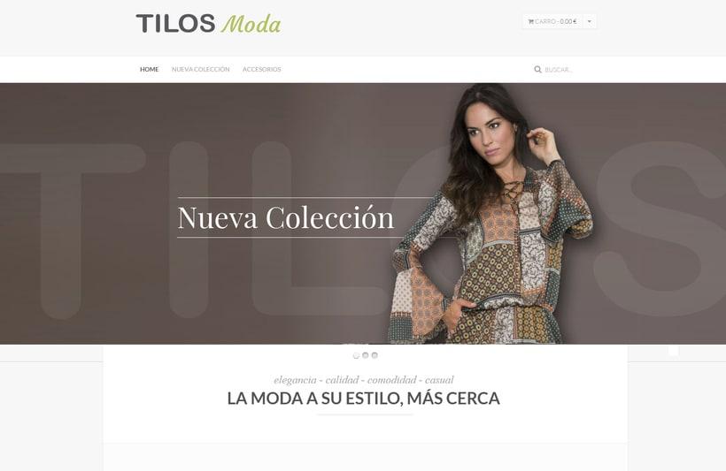 "Diseño Web ""Tilos Moda"" -1"