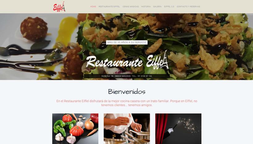 "Diseño Web ""Restaurante Eiffel"" -1"