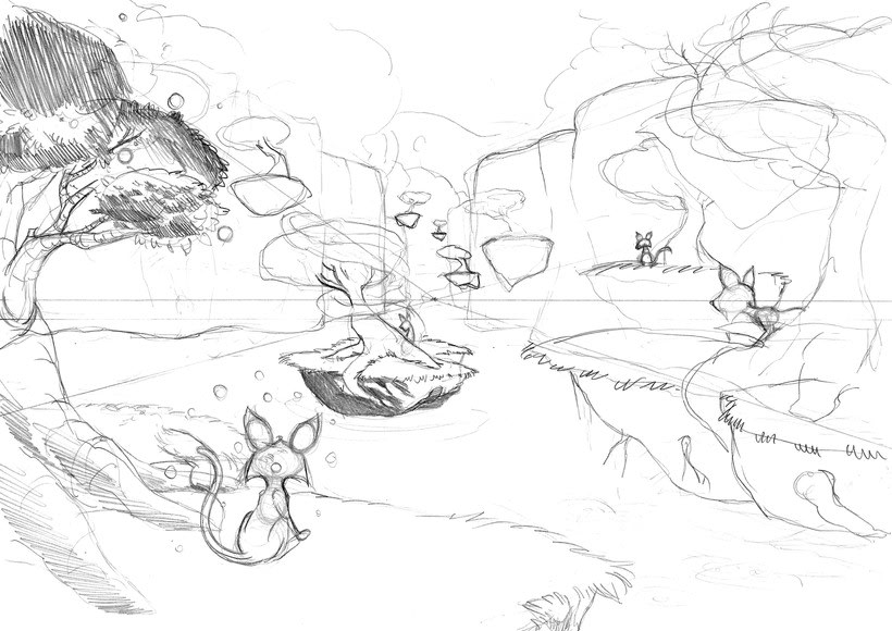 Concept art stages 1
