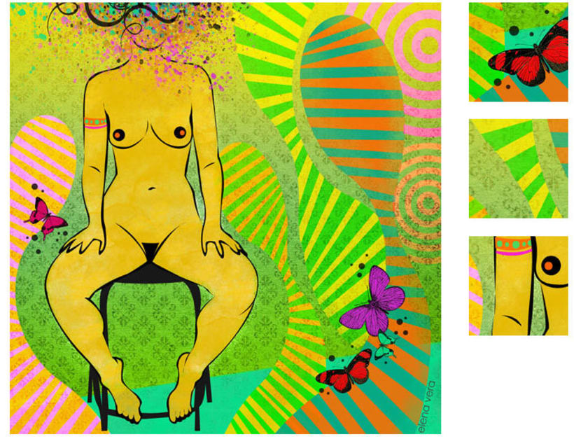 serie: 'desnudas' · ilustración digital 3