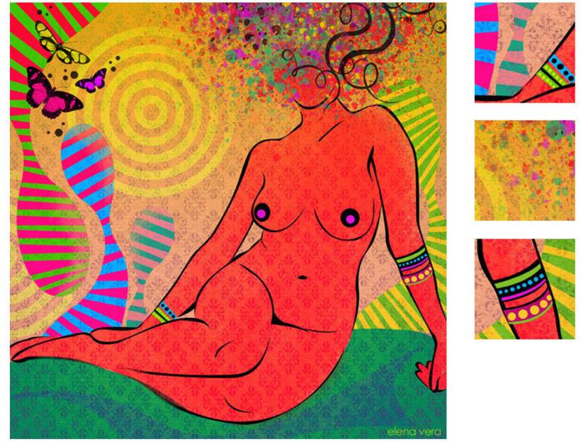 serie: 'desnudas' · ilustración digital 7