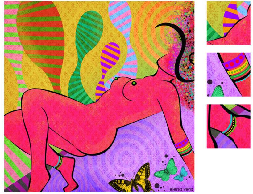 serie: 'desnudas' · ilustración digital 11