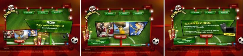 Pringles, Pringoools. Interfaz, games, tipologia 7