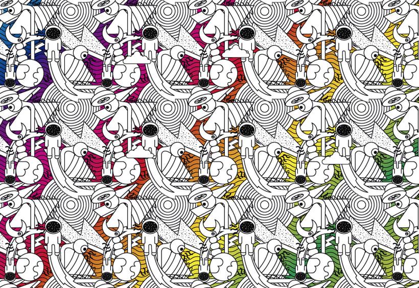 Pattern para impresión en cuadernos  3