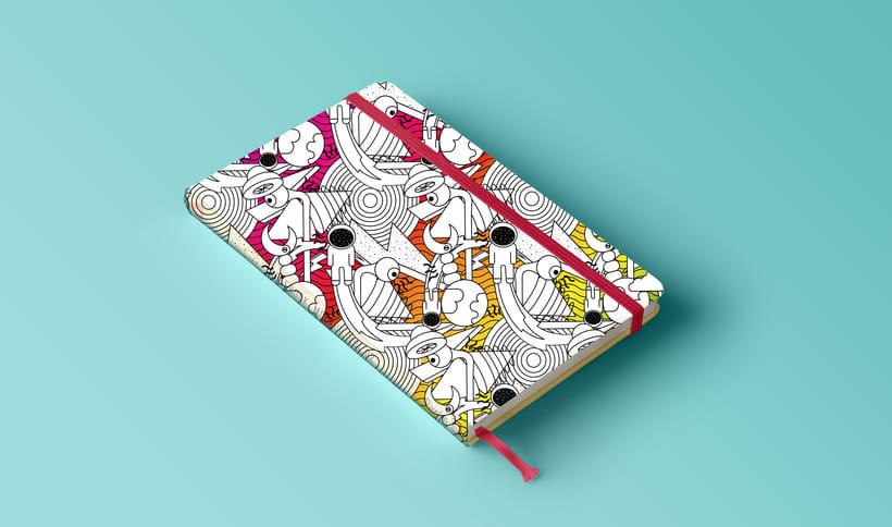 Pattern para impresión en cuadernos  1