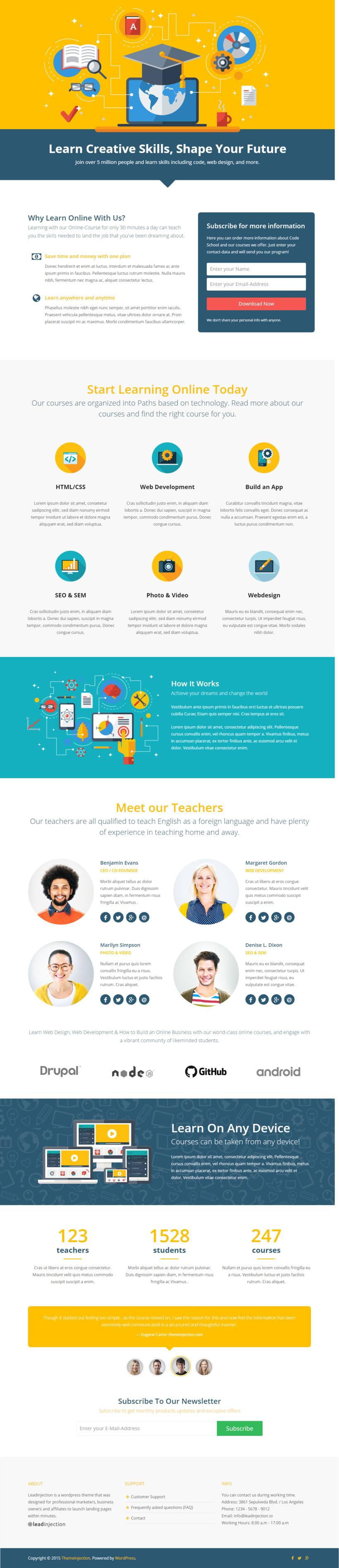 Plantilla WordPress para Cursos online -1