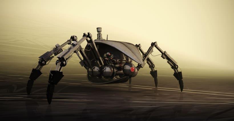Spiderbot. Modelado 3D en Blender -1