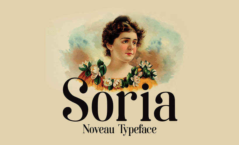 Soria- Free noveau typeface 0