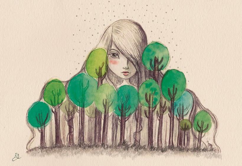 Ilustración fantástica: personajes femeninos. 0