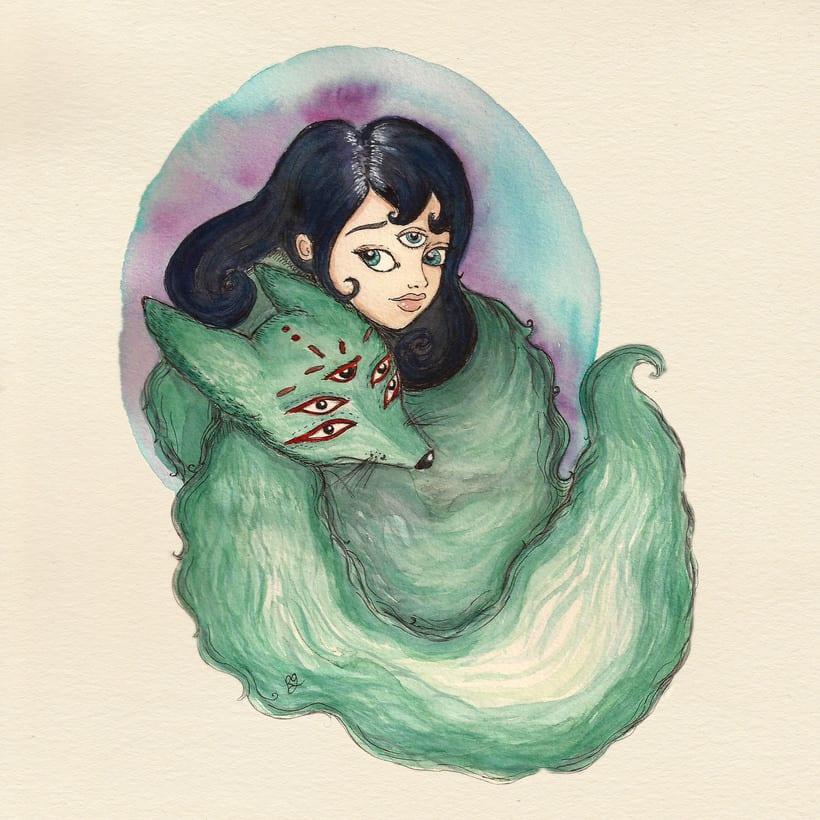 Ilustración fantástica: personajes femeninos. 1