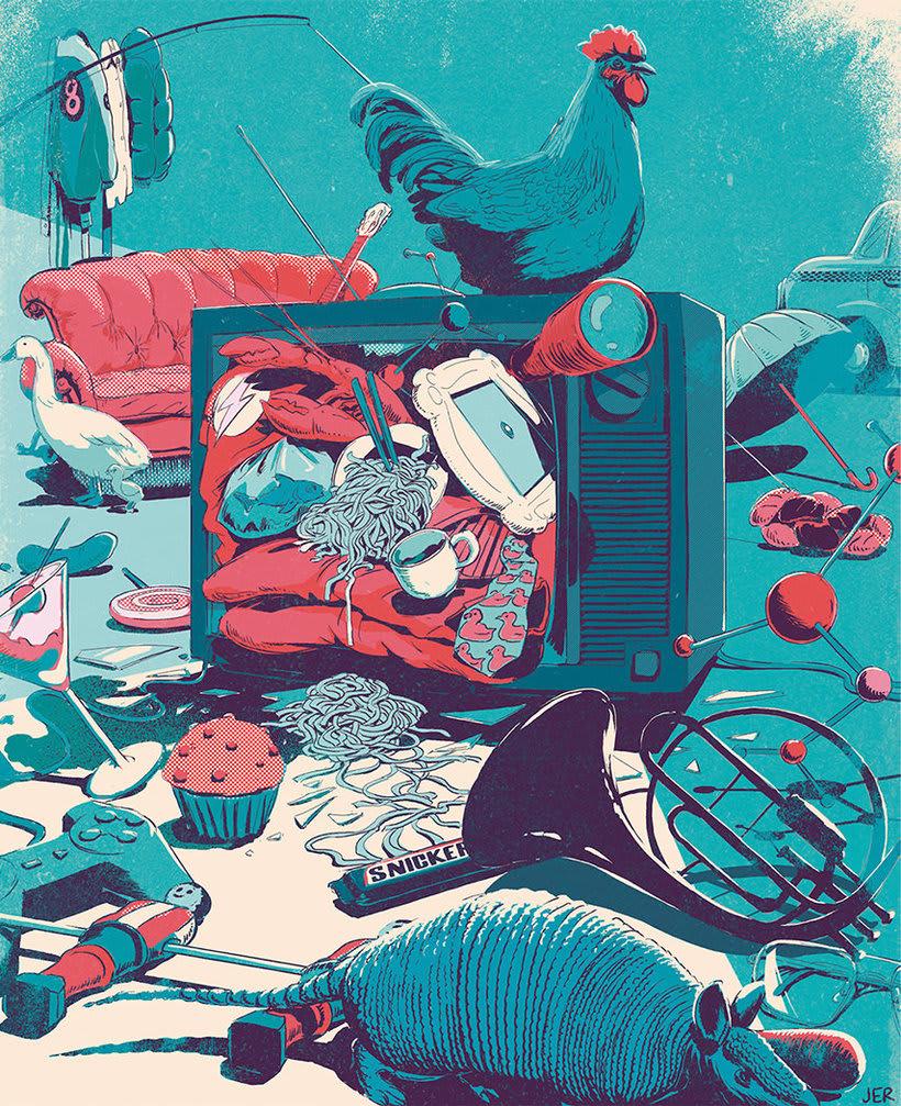 Juan Esteban congela el tiempo en misteriosas ilustraciones 4