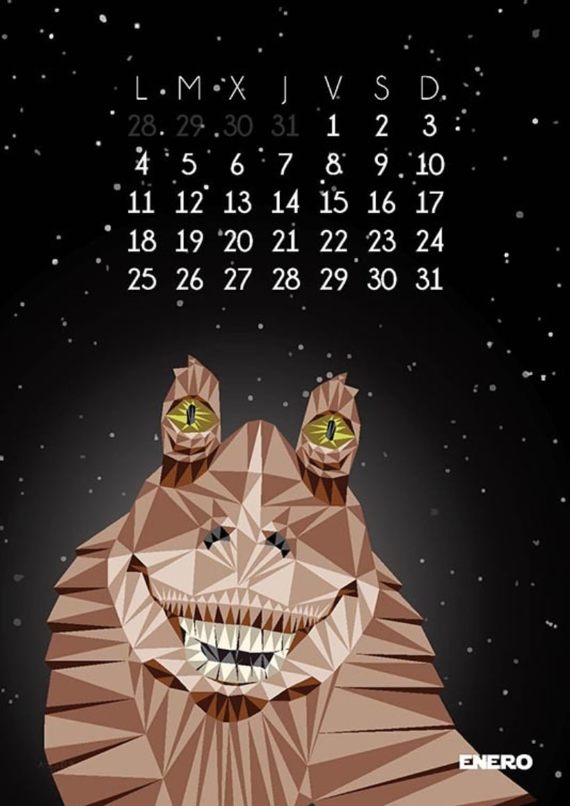 Calendario Star Wars 2016 2